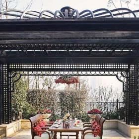 中式风格新古典风格别墅中式新古典庭院设计图效果图