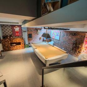 创意生活用品混搭清新马赛克背景墙娱乐室效果图大全