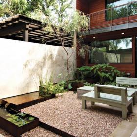 日式风格别墅庭院景观设计效果图日式风格户外家具图片