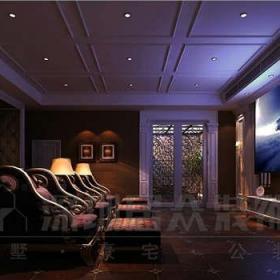 家庭影院娱乐室效果图 - 居众装饰效果图