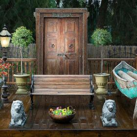 东南亚风格小花园装修图片东南亚风格庭院灯图片效果图欣赏
