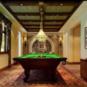 米色201平米以上別墅西式古典風格地下室臺球娛樂室裝修設計效果圖