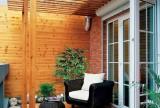120㎡实木家具原木色建材让阳台更贴近自然装修效果图