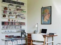 欧式风格原木色书桌效果图