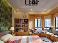 十上宜家风格公寓原木色富裕型卧室床图片效果图