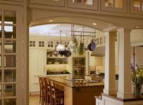 三米设计现代简约风格厨房原木色家居豪华型2018厨房设计图纸效果图