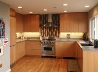 厨房简约91-120平米三居室极简简约原木色橱柜家具装修效果图