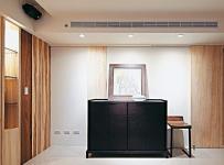 原木色91-120平米三居室禅意日韩风格玄关装修效果图