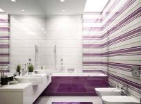 卫生间吊顶紫色系卫生间条纹控图片效果图