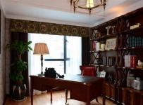 美式原木色四居室休闲惬意美式乡村风格书桌装修效果图