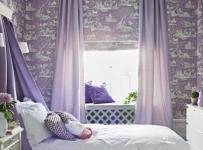 公主房紫色系飘窗装修效果图