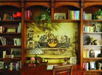 201平米以上原木色别墅经典复古美式乡村风格原木书桌装修效果图