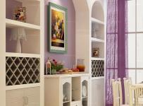 紫色背景墻韓式紫色餐廳背景墻功能性超強的浪漫餐廳效果圖欣賞