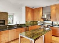 优雅紫色系整体厨房装修效果图大全