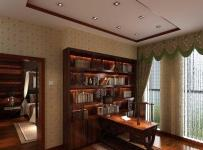 原木色151-200平米五居室中式风格经典案几书桌效果图