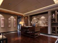 91-120平米四居室原木色中式古典书桌效果图