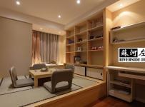 公寓混搭风格二居室原木色富裕型榻榻米订做效果图