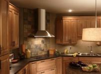 奢华家具原木色开放式厨房橱柜设计效果图