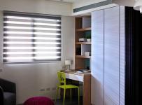 原木色91-120平米三居室阳光明媚简约风书柜效果图