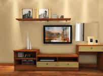 91-120平米日韩三居室日式风格原木色电视柜装修设计效果图