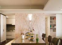 原木色91-120平米三居室温馨日韩风格餐厅装修效果图