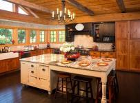 美式乡村风格客厅2018别墅简单温馨原木色家居装修效果图