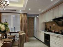 四居室原木色美式风格精致简洁原木色餐桌装修效果图