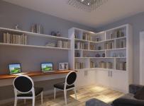 原木色现代简约书桌四居室现代简约风格书桌效果图