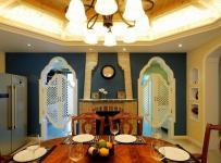 公寓混搭风格二居室原木色餐厅餐桌图片效果图