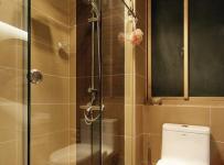 简约风格公寓温馨原木色富裕型卫生间改造效果图