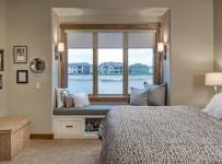 美式乡村风格卧室200平米别墅唯美原木色家居外飘窗的设计图纸效果图