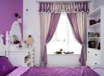 梳妆台田园韩式欧式床紫色的主卧室效果图大全