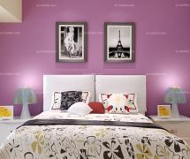 紫色背景墻紫色臥室背景墻時尚現代的臥室裝修效果圖約114平米
