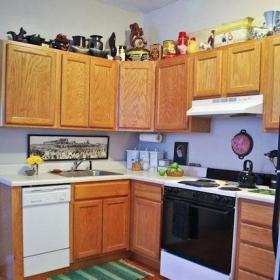 簡約風格一居室簡潔原木色3萬-5萬廚房櫥柜海外家居效果圖