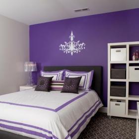 紫色兒童房間裝修設計效果圖