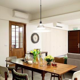 原木色美式餐廳溫馨美式風格三居室餐廳裝修效果圖