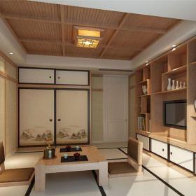 原木色61-90平米三居室日韓風格原木風榻榻米裝修圖片效果圖