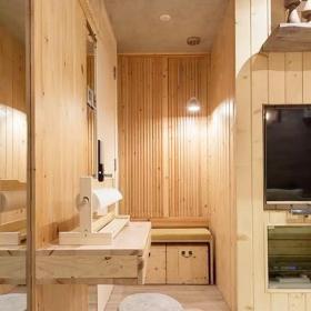 舊房改造超小戶型原木色25平老公房小餐臺裝修圖片效果圖