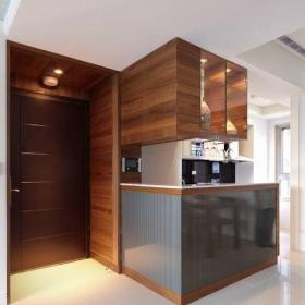 簡約風格小戶型原木色富裕型110平米門廳裝修效果圖