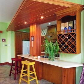 东南亚风格别墅古典原木色富裕型140平米以上吧台吧台椅效果图