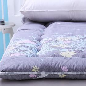 紫色榻榻米床墊效果圖
