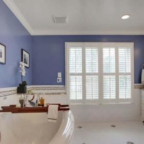 衛生間吊頂紫色系衛生間裝飾圖片效果圖