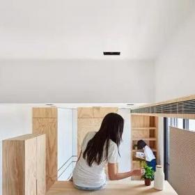 5-10萬原木色10平米超小戶型挑高裝修設計效果圖