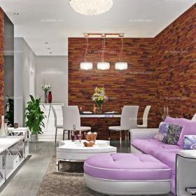 現代小戶型紫色浪漫的酷感客廳,生活藝術化效果圖
