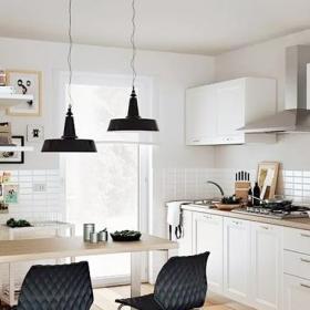 厨房吧台原木色小吧台装修设计效果图
