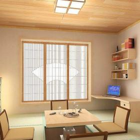原木色61-90平米二居室舒適簡約日韓風格榻榻米裝修效果圖