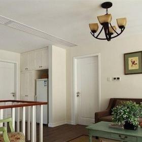 簡歐風格復式古典原木色富裕型140平米以上客廳燈具圖片效果圖