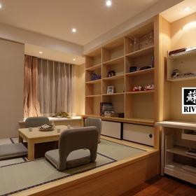 公寓混搭風格二居室原木色富裕型榻榻米訂做效果圖