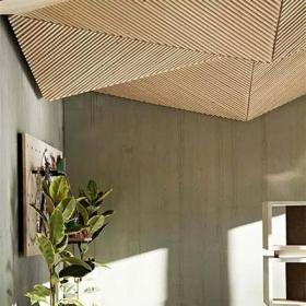 天花吊頂原木色創意木質家庭吊頂設計效果圖