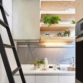 5-10萬原木色10平米超小戶型廚房裝修設計效果圖
